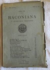 Baconiana - A Quarterly Magazine, vol 1, no 2 (New Series), April 1903