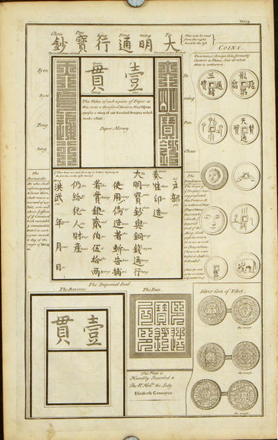 TWO SHEETS: CHINESE CURRENCY. Ancient Coin Called Pu and ...