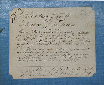 , 1829. Blue paper-covered boards, originally with leather spines (leather almost completely worn aw...