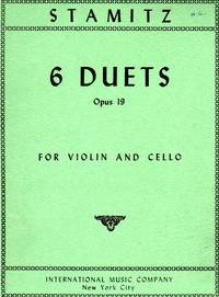 Six [6] Duets, Op. 19 - for Violin and Cello [SET of TWO PARTS]