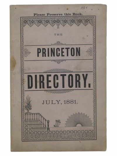 1881. Small Softcover. Near Fine. Light smudge on front wrapper. 1881 Small Softcover. 36 pp. The Pr...