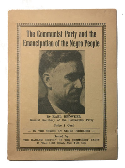 New York: The Harlem Section of the Communist Party, 1934. Paperback. Good. 16p. Softcover in origin...