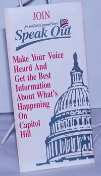 image of Join Human Rights Campaign Fund's Speak Out: Make your voice heard and get the best information about what's happening on Capitol Hill [brochure]