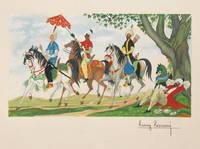 Contes des mille et une nuits. Illustrations de Henry Lemarié.