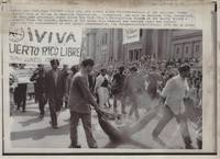 [Puerto Rico]  Wire Photo of the Young Lords Party – Call for Puerto Rican Freedom - 1970