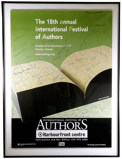 1997. Promotional poster for the annual Toronto literary festival, which each year since 1980 brough...