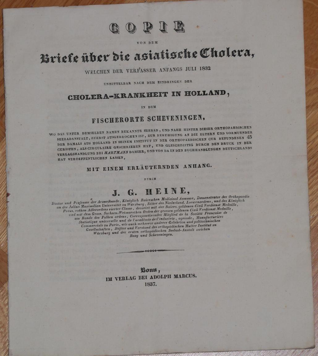 Briefe Nach Holland Adresse : Copie von dem briefe über die asiatische cholera welche
