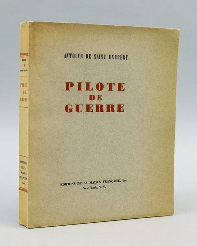 New York: Éditions de la Maison Française, 1942. FIRST EDITION (preceeding the French edition). No...