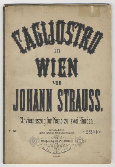 Hamburg: Aug. Cranz , 1878. Large octavo. Original publisher's dark ivory printed wrappers. 1f. (rec...