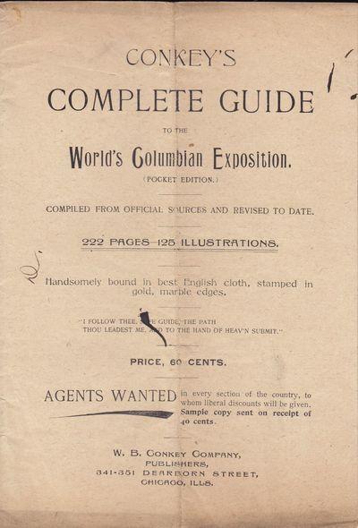 Chicago: W. G. Conkey Company, 1893. Ephemera. Very Good. 8vo 8