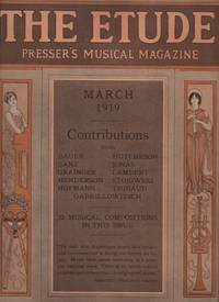 ETUDE, Presser's Music Magazine: March and June 1919, The.
