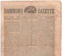 The Hammond Gazette, March  30, 1864. Vol. 2, No. 20.