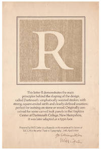 R - This Letter R Demonstrates The Main Principles Behind The Shaping Of The Design Called Dartmouth