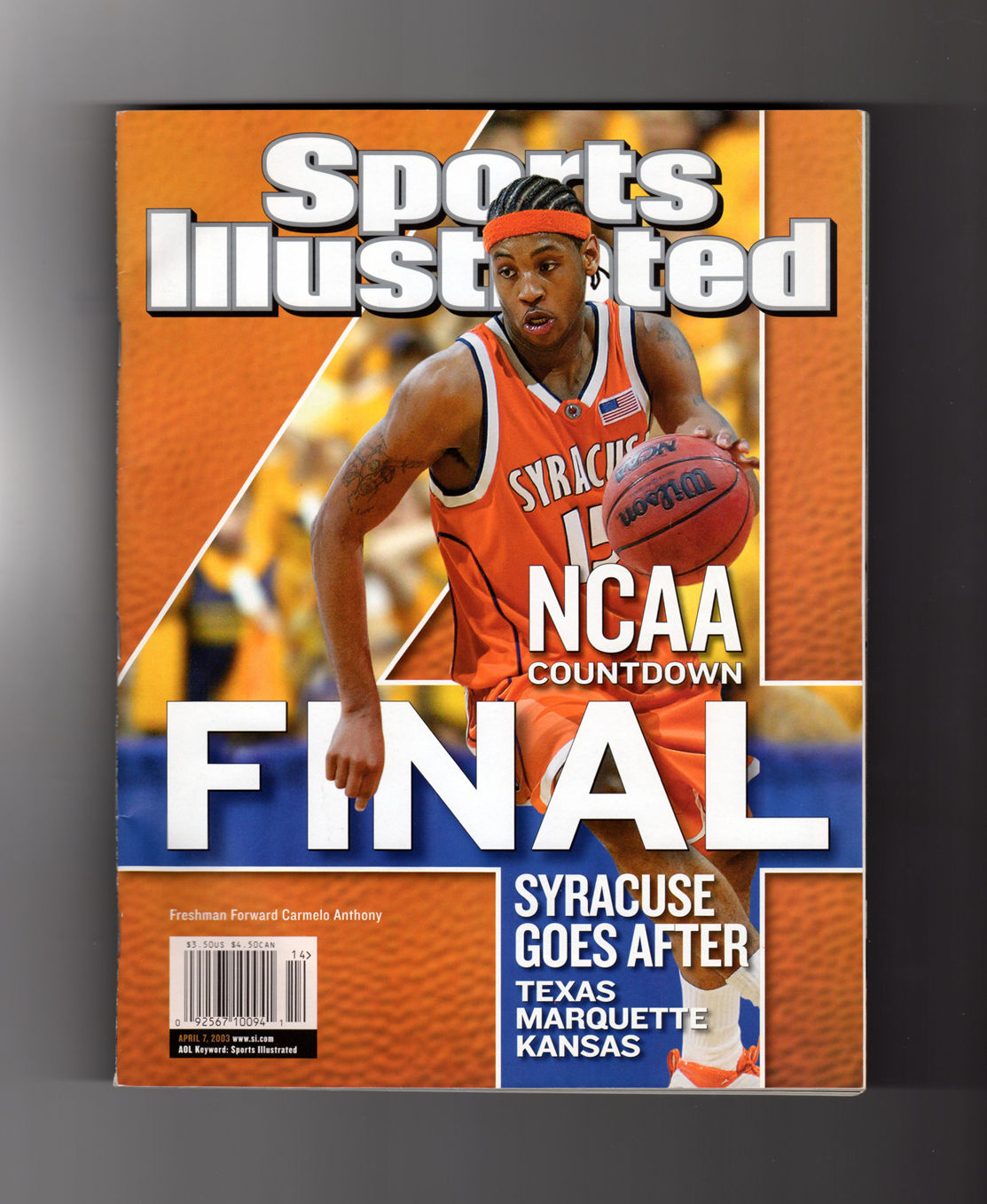 Sports Illustrated Cover Book ~ Sports illustrated april carmelo anthony