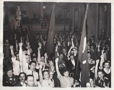 New York: Acme, 1940. Very Good. New York: Acme, 1940 Very Good Press Photo of 1940 National Convent...