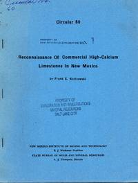 Reconnaissance of commercial high-calcium limestones in New Mexico