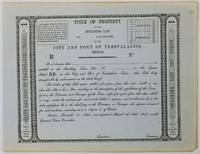 [Unused Stock Certificate for Land in the City and Port of Trespalacios, Texas]