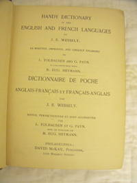Handy Dictionary of the English and French Languages by  J.E Wessely - Hardcover - 1900 - from Charity Bookstall and Biblio.com