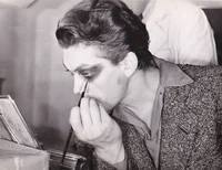 Beauty and The Beast (Collection of four original photographs of Jean Marais applying makeup on the set of the 1946 film)