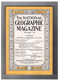 National Geographic Magazine - December. 1928. With Original Laid-in N.C. Wyeth print. Renascent Germany; Through Germany with a Color Camera; Seeing 3,000 Years of History; Mickey the Beaver; Falcon - Pacific\'s Newest Island