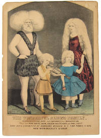 THE WONDERFUL ALBINO FAMILY, RUDOLPH LUCASIE, WIFE AND CHILDREN, FROM MADAGASCAR. THEY HAVE PURE WHITE SKIN, SILKEN WHITE HAIR AND PINK EYES!! HAVE BEEN EXHIBITED AT BARNUM'S MUSEUM N.Y. FOR THREE YEARS. NOW WITH BUCKLEY AND COUP [caption title]