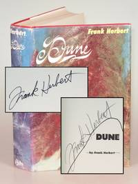 Dune, signed twice by Frank Herbert