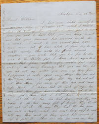 Autograph Letter Signed, Stockton, California, December 25, 1853, to his friend William