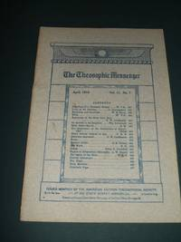The Theosophic Messenger for April 1910