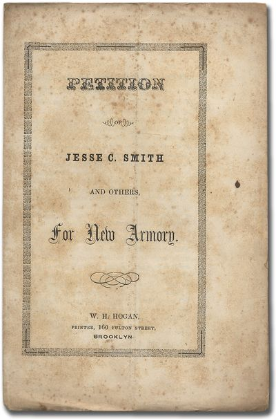 Brooklyn: W.H. Hogan, 1854. Softcover. Very Good. First edition. Printed unbound wrappers. One sheet...