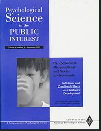 Psychological Science in the Public Interest (Volume 6, Number 3, December 2005)
