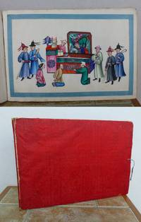 ALBUM OF 12 CHINESE GOUACHE PITH PAINTINGS OF CHINESE PUNISHMENTS.