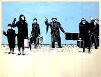 TRAVELLING PLAYERS, THE [O THIASOS] (1975; first UK release, 1976) Maquette artwork painting and UK quad poster