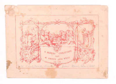 London: Summerly's Home Treasury Office, 1843. Printer's proof of the first Christmas card, printed ...