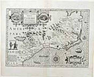 [Amsterdam: Hondius-Janssonius, 1623. Copper-plate engraving. Centerfold strengthened, repaired tear...