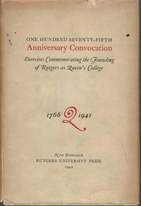 One Hundred Seventy-Fifth Anniversary Convocation - Exercises Commemorating the Founding of...