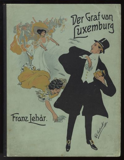 Wien: W. Karczag , 1909. Folio. Original publisher's light turquoise wrappers with color illustratio...