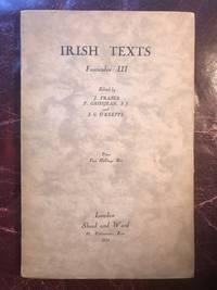 Irish Texts Fasciculus III