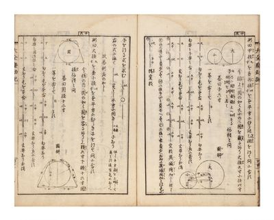 Numerous geometrical woodcuts in the text. 2.5 p.l., 78-119 (but complete); 120-43; 144-72, leaves o...