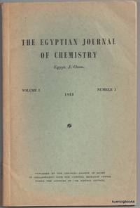 The Egyptian Journal of Chemistry (Egypt. J. Chem.) Volume I Number 1