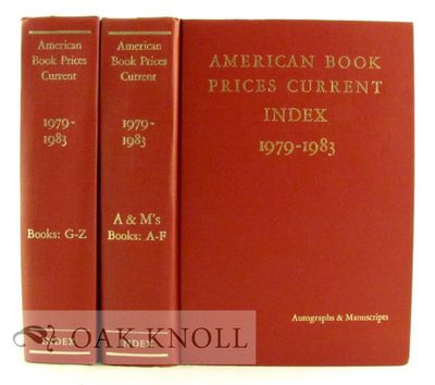 New York: ABPC, 1984. cloth. Auction Records. 8vo. cloth. xiv,1074; (xxxviii),1075-2246 pages. 2 vol...