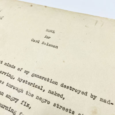 , . First Edition. Very good. Eleven carbon typescript leaves; 27.5 x 21.4 cm. Double-spaced, typed ...