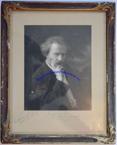 IGNACY JAN PADEREWSKI (1860-1941). Paderewski was a Polish pianist, composer, and statesman. PS. 13�...