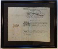 Framed Document Signed