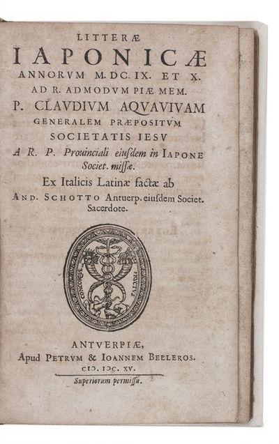 Litterae Iaponicae annorum M.DC.IX et...