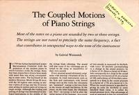 The Coupled Motions of Piano Strings [ARTICLE excised from  Scientific American, January 1979 - Vol. 240 No. 1]