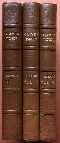 image of Oliver Twist (3 volumes, 1838-1839, finely bound)