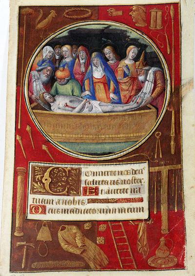 Tours, France: np, 1500. first edition. nb. Very Good. EXTRAORDINARY ILLUMINATED MANUSCRIPT LEAF FEA...