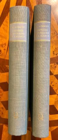 [INCUNABULA REFERENCE]. Histoire litteraire de l'Alsace a la fin du XVe et au commencement du...