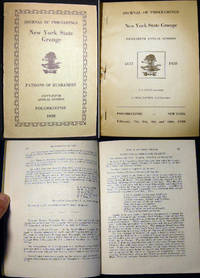 Journal of Proceedings New York State Grange Patrons of Husbandry Fifty-Fifth Annual Session Poughkeepsie 1928 by (New York State Grange) - Paperback - 1928 - from Certain Books, ABAA (SKU: 14412)