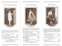 """PET"" TAILORED UNDERGARMENTS:  Price List, Fall 1924"